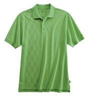 Custom Izod Mens Performance Oxford Piqué Argyle Polo Shirt