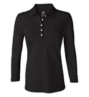 Custom Izod Ladies 3/4-Sleeve Silk-Washed Piqué Polo