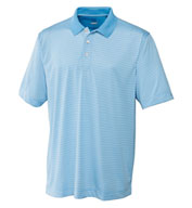 Custom Cutter & Buck Polo CB Drytec Trevor Stripe Mens