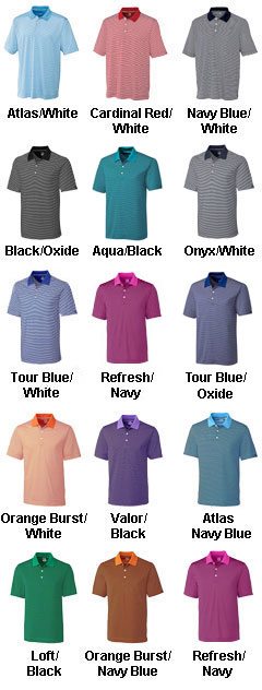 Cutter & Buck Polo CB Drytec Trevor Stripe - Mens Big & Tall - All Colors