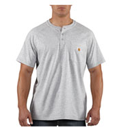 Force™ Cotton Short Sleeve Henley T-shirt by Carhartt