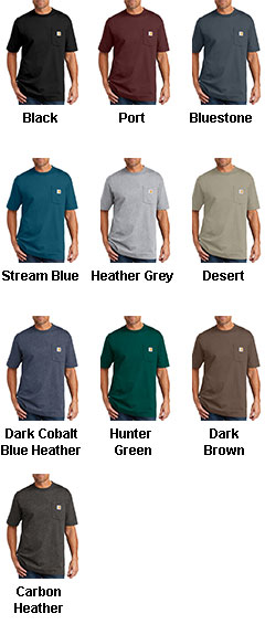 Carhartt Short Sleeve Pocket T-Shirt - All Colors