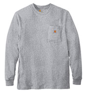 Custom Carhartt Men's Long Sleeve Workwear Pocket T-Shirt