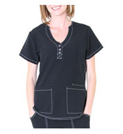 Fashion Y-Neck Top by Spectrum Uniforms