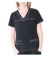 Sporty V-Neck Top by Spectrum Uniforms