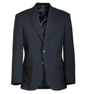 Single-Breasted Polyester Blazer