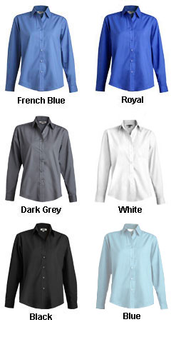Ladies Long Sleeve Broadcloth  Work Shirt - All Colors
