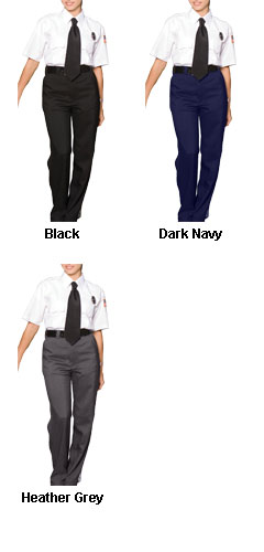 Ladies Flat Front Security Pant - All Colors
