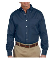 Mens Pima Cotton Twill Dress Shirt By Devon and Jones
