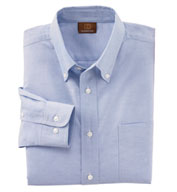 Mens Long Sleeve Oxford Shirt with Stain-Release