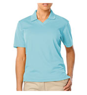 Custom Ladies Superblend V-Neck Pique Polo