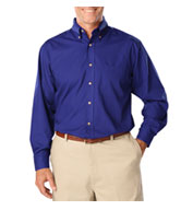 Mens Tall Long Sleeve Stain Release Poplin