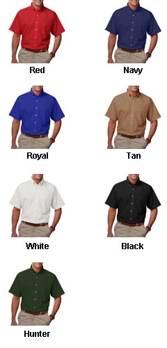 Mens Tall Short Sleeve Stain Release Poplin - All Colors