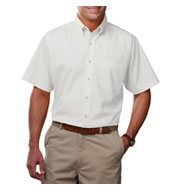 Mens Tall Short Sleeve Stain Release Poplin