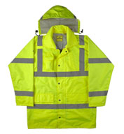 Custom ANSI/ISEA Rain Jacket Mens
