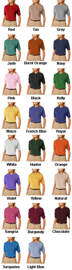 Ladies Egyptian Ringspun Cotton Pique Polos - All Colors