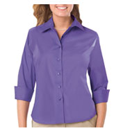 Ladies 3/4 Sleeve Easy Care Stretch Poplin Blouse