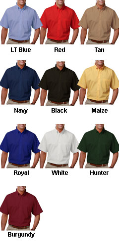 Mens Short Sleeve Budget Friendly Poplin Shirt - All Colors