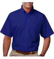 Custom Mens Short Sleeve Budget Friendly Poplin Shirt Mens