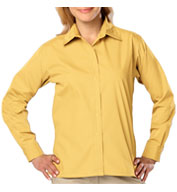 Custom Ladies Long Sleeve Budget Friendly Poplin Shirt