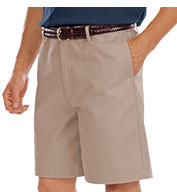 Custom Mens Teflon Treated Twill Flat Front Shorts