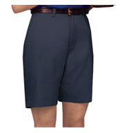 Ladies Teflon Treated Twill Flat Front Shorts