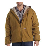 Dickies Adult Sanded Duck Sherpa-Lined Hooded Jacket