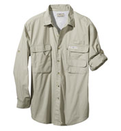 Hook & Tackle Mens Gulf Stream Long-Sleeve Fishing Shirt