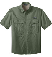 Custom Eddie Bauer Short Sleeve Fishing Shirt