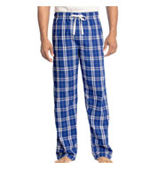 District Young Mens Flannel Plaid Pajama Pants