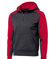 Sport-Tek® - Colorblock Tech Fleece 1/4-Zip Hooded Sweatshirt