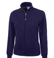 Womens Onyx Full Zip Sweatshirt by Charles River Apparel