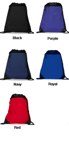 UltraClub® Polyester Foam Mesh Drawstring Pack - All Colors