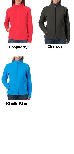 UltraClub Ladies Micro Fleece Full-Zip Jacket - All Colors