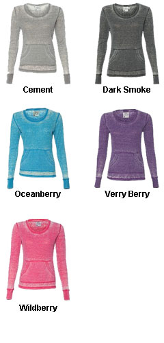 J America- Ladies Zen Thermal Long Sleeve T-Shirt - All Colors