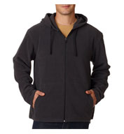 Custom Adult Mens Micro Fleece Full-Zip Hoodie