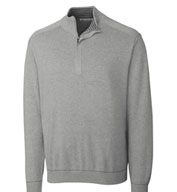 Cutter and Buck Mens Big and Tall Half Zip Sweater