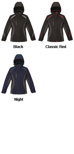 North End Ladies Insulated 3 in 1 Jacket - All Colors
