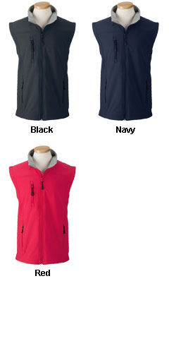Mens Wind and Water Resistant Soft Shell Vest - All Colors