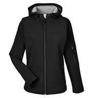 Custom Womens Soft Shell Hooded Jacket