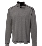 Custom Mens Cutter and Buck Overtime Half Zip In Big and Tall Sizes