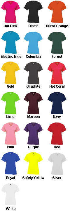 Badger B-Core Girls Shortsleeve V-Neck Tee - All Colors