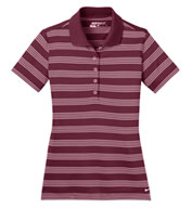 Custom Ladies Nike Golf Dri-FIT Stripe Polo