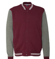 Custom Mens Varsity Sweatshirt Jacket by MV Sport
