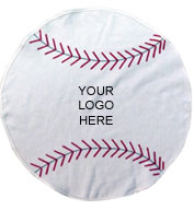 Custom Baseball Shaped Towel