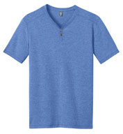 Mens Tri-Blend Short Sleeve Henley Tee