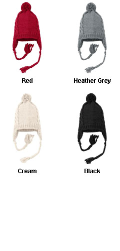 District ® Cabled Beanie with Pom - All Colors