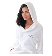 Unisex Hooded Coral Fleece Robe