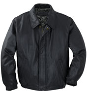 Port Authority® Leather Bomber Jacket