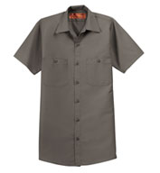 Custom Mens Tall  Half Sleeve Industrial Red Kap Work Shirt